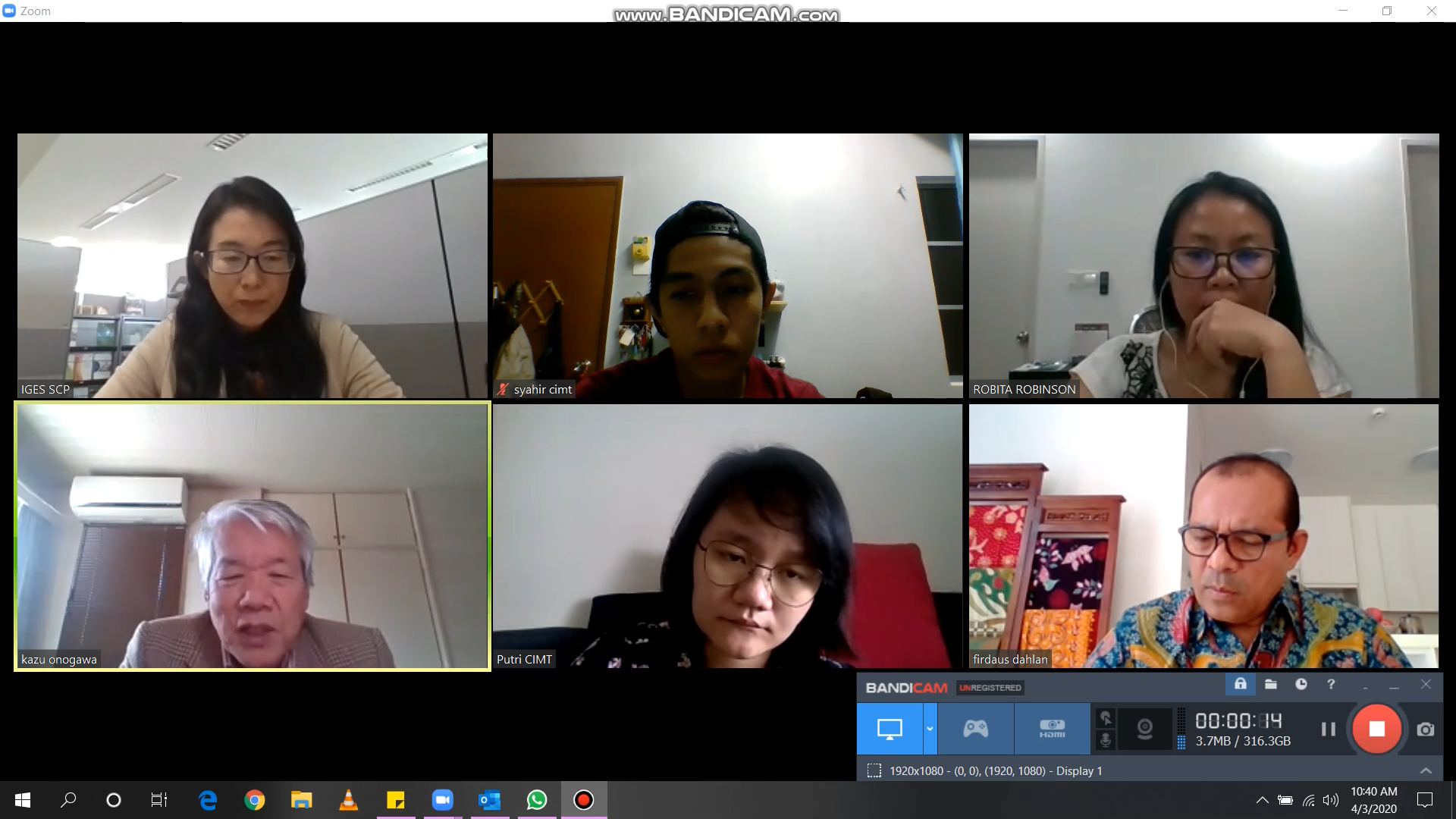 Video Conference Meeting With IGES