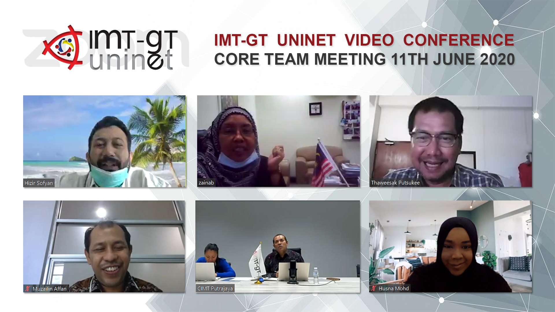 2ND IMT-GT UNINET VIDEO CONFERENCE CORE TEAM MEETING