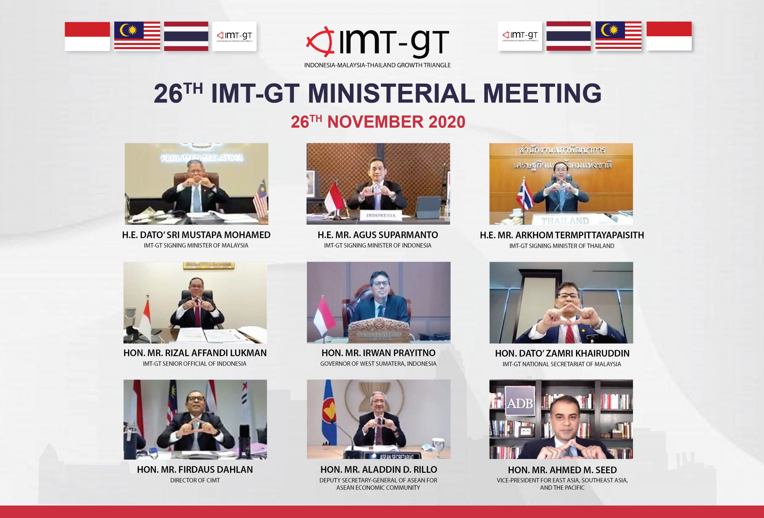 26TH IMT-GT MINISTERIAL MEETING