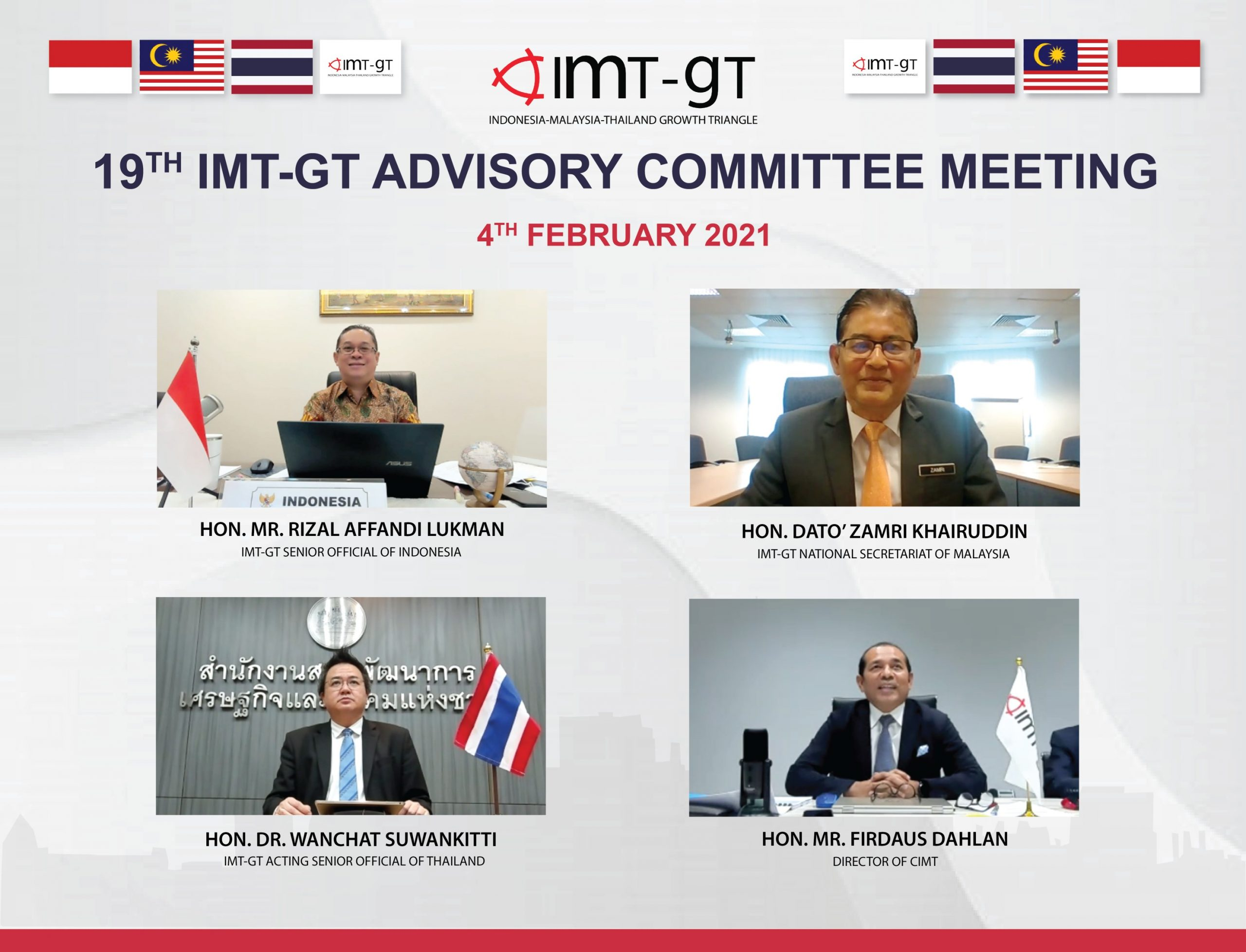 19TH IMT-GT ADVISORY COMMITTEE MEETING